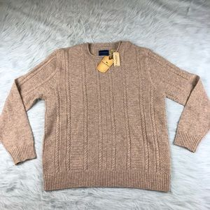Men's Tommy Bahama Lambswool Cable Knit Sweater XL